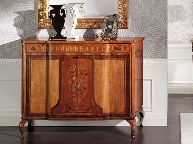 Solid wood sideboard with doors SAMUEL | Sideboard by Arvestyle