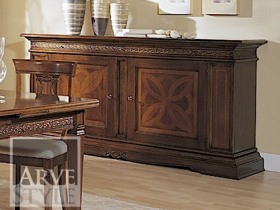 Solid wood sideboard with doors CARAVAGGIO | Sideboard by Arvestyle