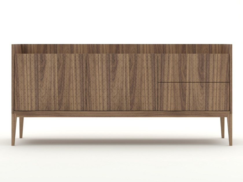 Walnut sideboard with drawers TRAME | Sideboard by Barba design