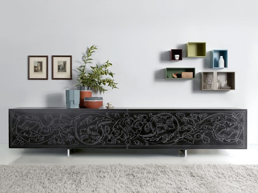 Lacquered sideboard with sliding doors SHOW | Sideboard by Capo d'Opera