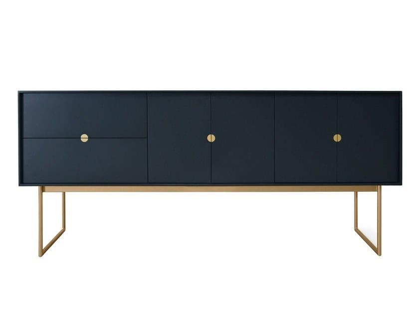 Wood veneer sideboard with doors ZAGGA   Sideboard by Conceito Casa