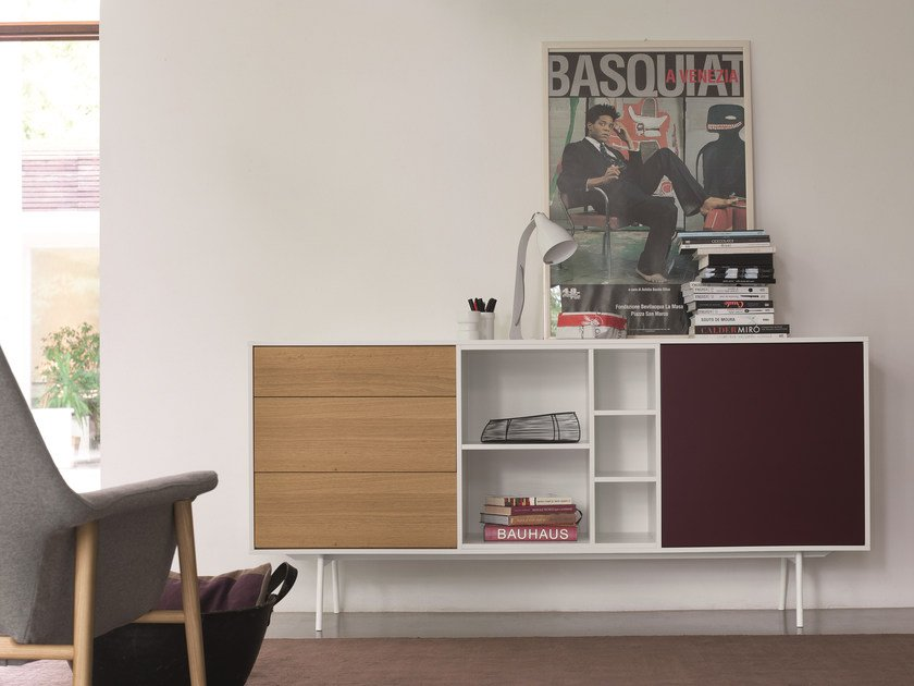 Modular wooden sideboard CODE | Sideboard by Dall'Agnese