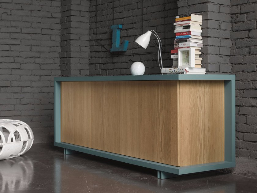 Oak sideboard with doors FRAME | Sideboard by Dall'Agnese
