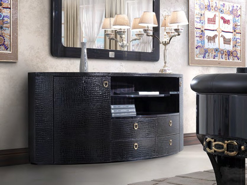 Leather sideboard with drawers CHELSEA | Sideboard by Formitalia