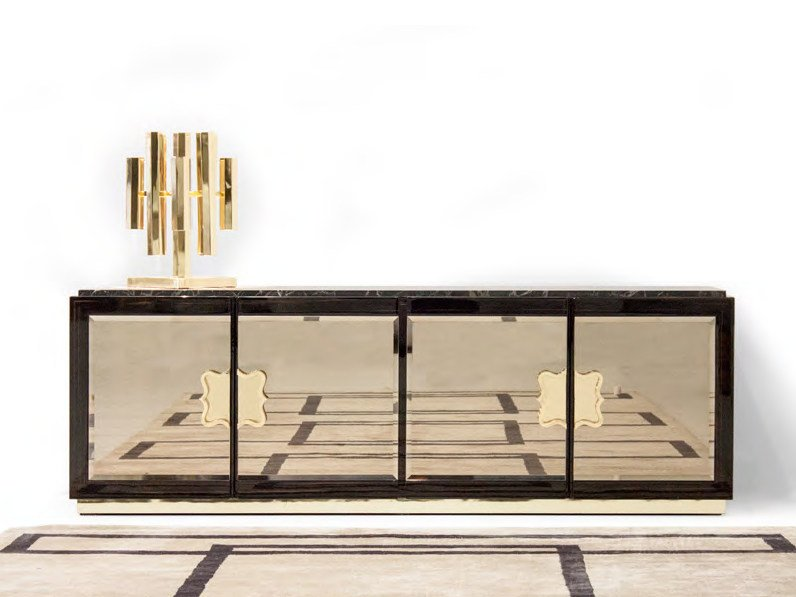 Mirrored glass TV cabinet / sideboard ROYAL | Sideboard by Formitalia