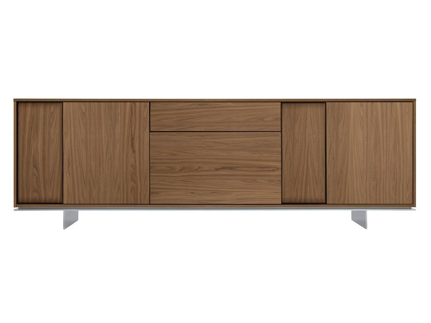 Walnut sideboard with doors FRAME | Sideboard by JESSE