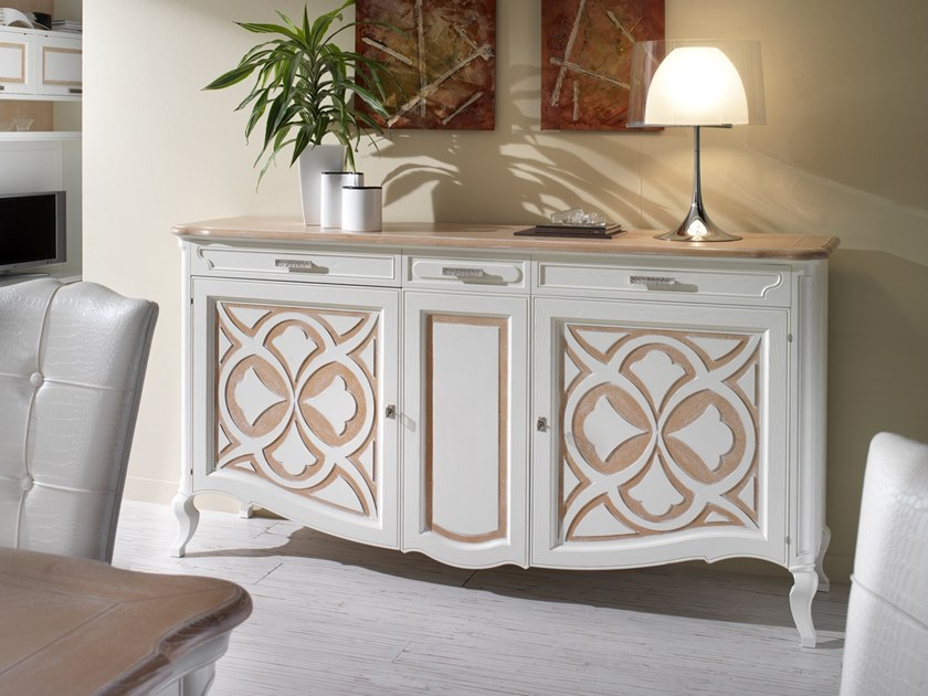 Ash sideboard with doors CA' FOSCARI | Sideboard by MOLETTA