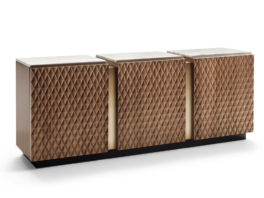 Wooden sideboard with doors VICTOR | Sideboard by OPERA CONTEMPORARY