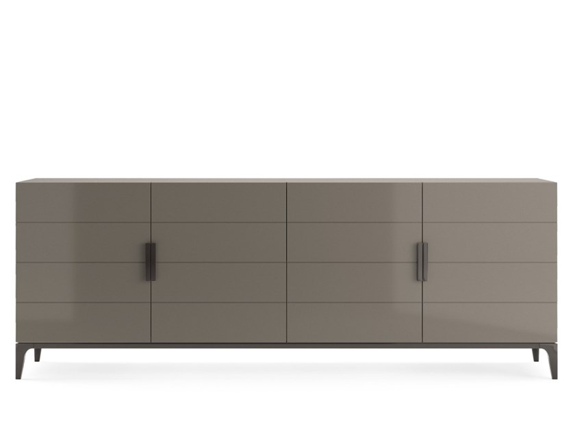 Lacquered wooden sideboard with doors PAVANNE | Sideboard by PRADDY
