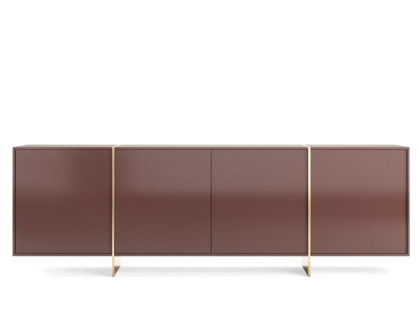 Lacquered sideboard with doors RHAPSODY | Sideboard by PRADDY