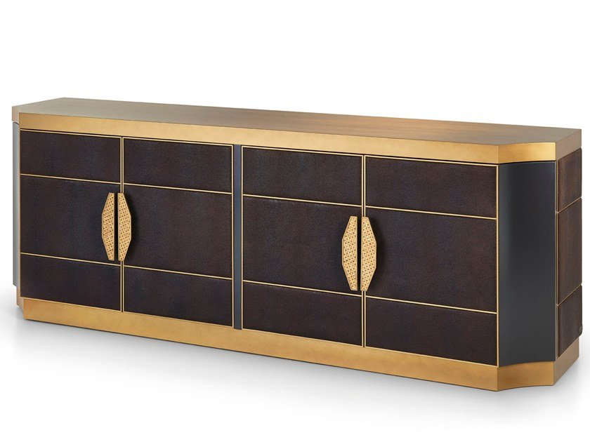 Lacquered sideboard with doors SAVOY | Sideboard by Sicis