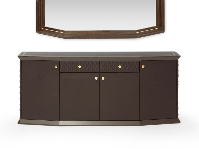 Leather sideboard with doors LONG BEACH LUX | Sideboard by Tonino Lamborghini Casa
