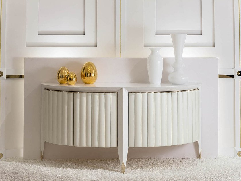 Leather sideboard with doors ORION | Sideboard by Turri