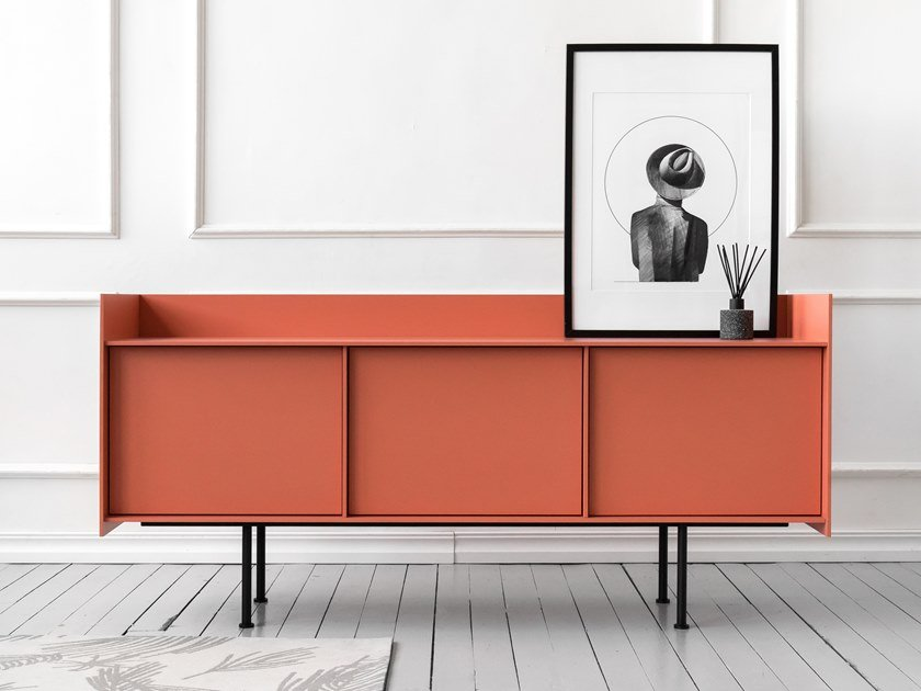 Lacquered sideboard with doors LANDING | Sideboard by Viruna