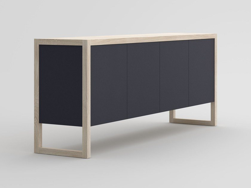 Solid wood sideboard with colored Bio MDF SENA | Sideboard by Vitamin Design