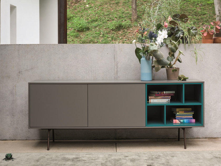 Modular wooden sideboard with doors CODE | Sideboard with doors by Dall'Agnese