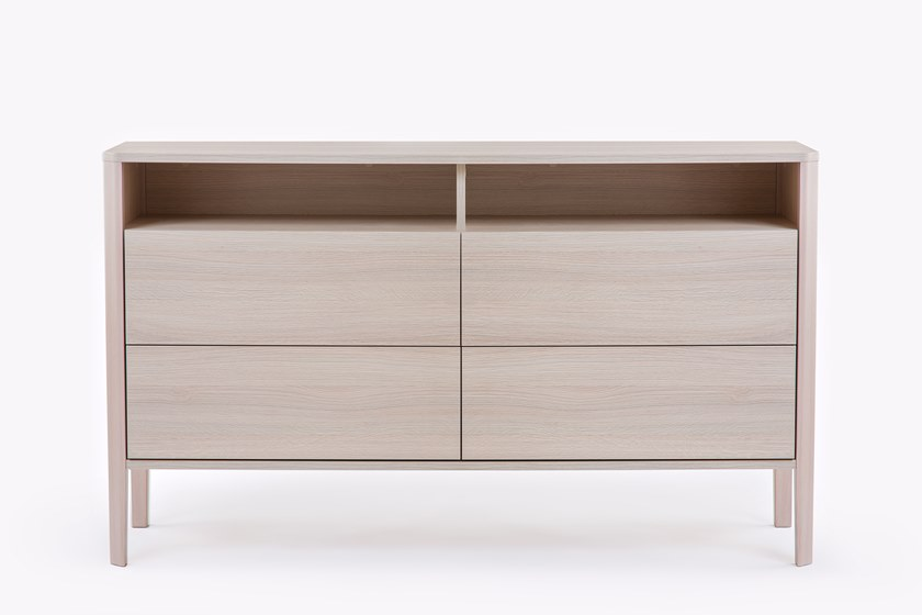 Wood veneer sideboard with drawers OSLO | Sideboard by Woodman