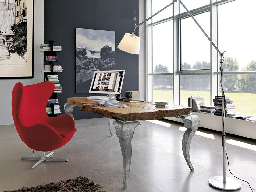 Rectangular wooden executive desk SIDNEY | Office desk by Bizzotto