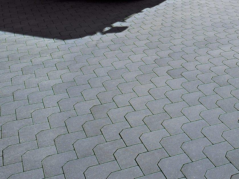 Concrete paving block SIDNEY by RECORD - BAGATTINI