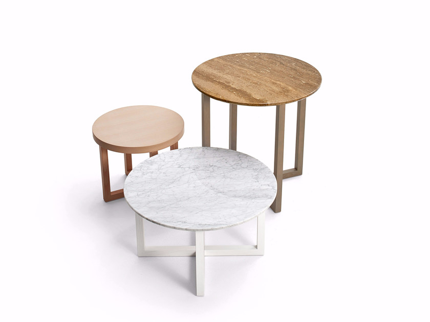 Round bistro side table SIDNEY   Round coffee table by Varaschin