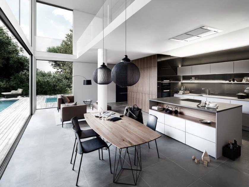 Contemporary Style Wooden Kitchen Siematic Pure - S2 Se 4004 N By
