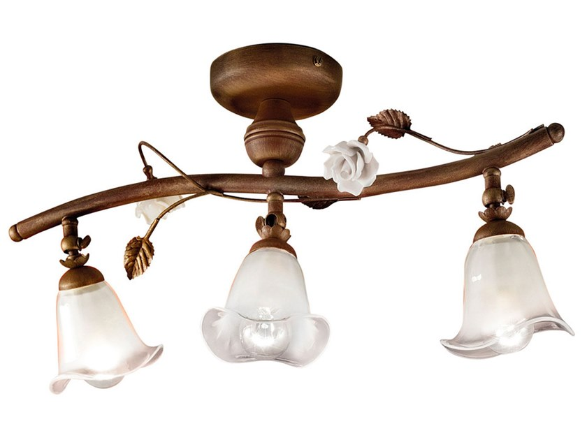 Adjustable ceramic ceiling lamp with fixed arm SIENA | Adjustable ceiling lamp by FERROLUCE