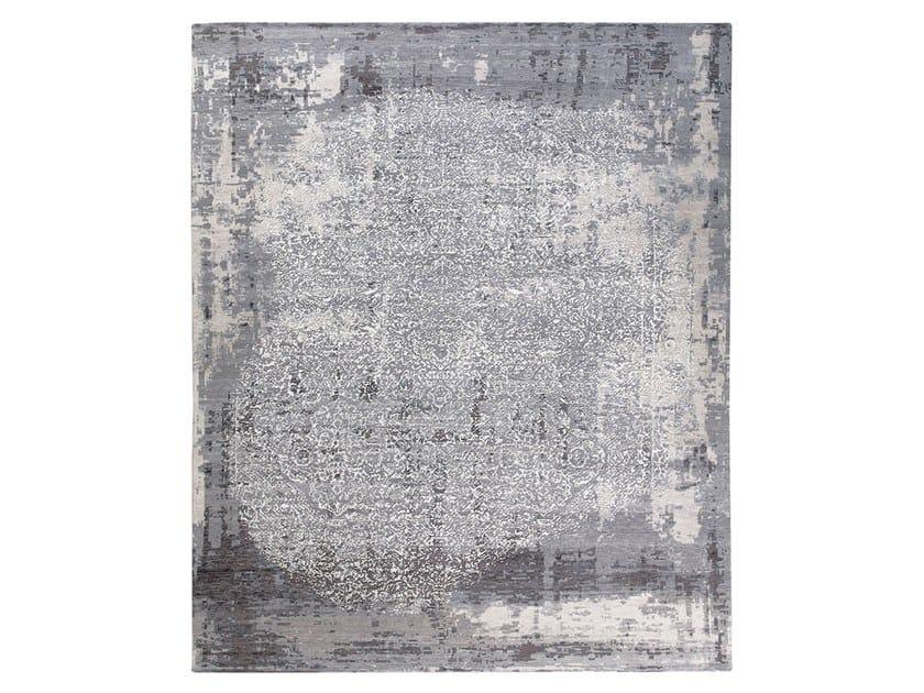 Handmade custom rug SIENA GREY & SILVER by Thibault Van Renne