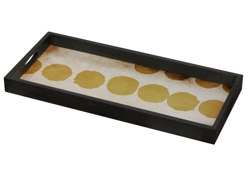 Rectangular glass tray SIENNA DOTS by Notre Monde