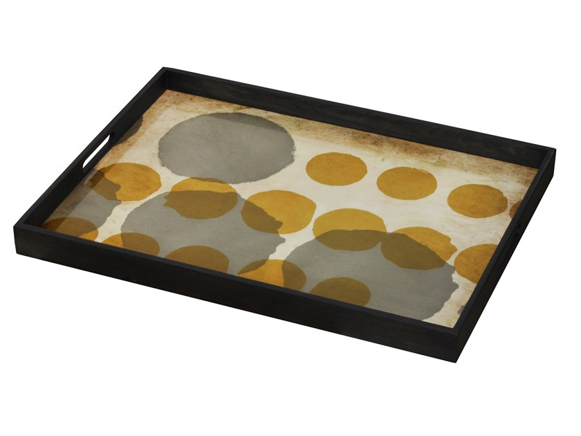 Rectangular glass tray SIENNA LAYERED DOTS by Notre Monde