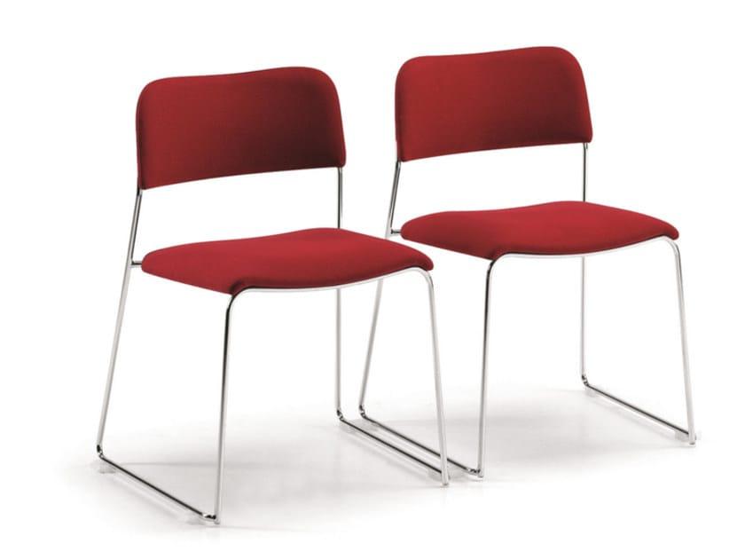 Sale Per D'attesa Sedia In Sigma Tessuto 160 A Slitta Imbottita Talin mOyv8n0wN