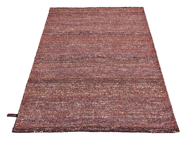 Handmade rectangular rug SILK RUG CHOCOLATE by Massimo Copenhagen
