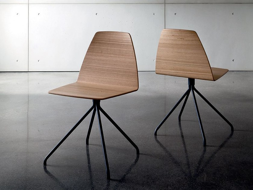 Trestle-based multi-layer wood chair SILA TRESTLE | Multi-layer wood chair by Sovet italia