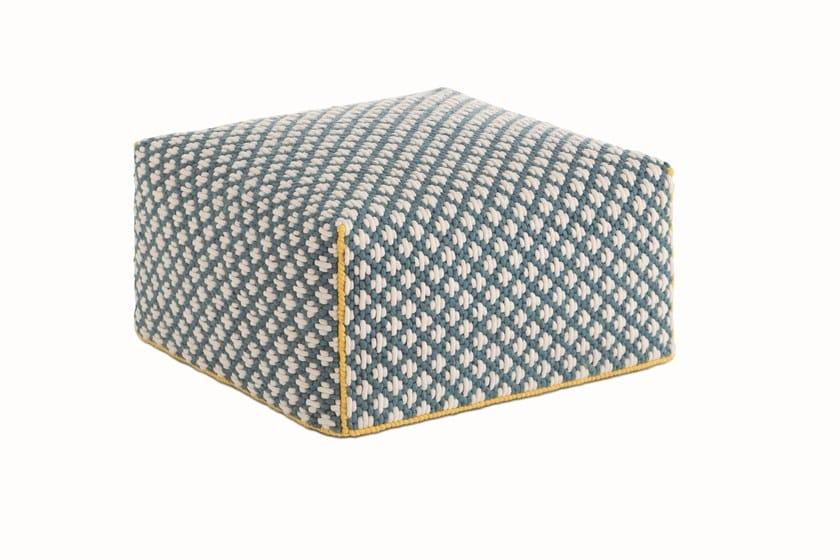 Upholstered fabric pouf SILAÏ | Pouf by GAN