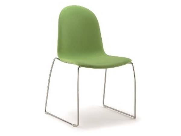Sled base upholstered fabric chair SILENS | Sled base chair by Cizeta L'Abbate