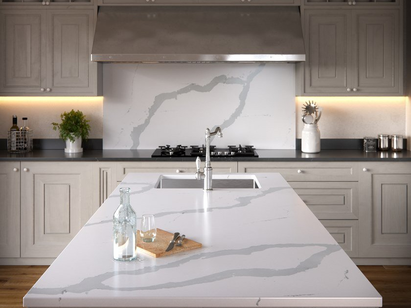 Silestone® kitchen worktop SILESTONE® ETERNAL BIANCO CALACATTA by Cosentino
