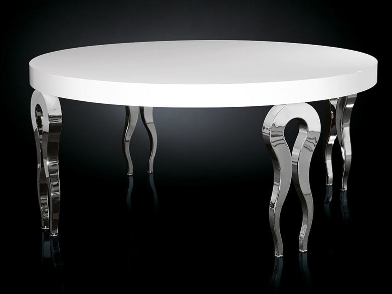Lacquered round steel living room table SILHOUETTE | Round table by VGnewtrend