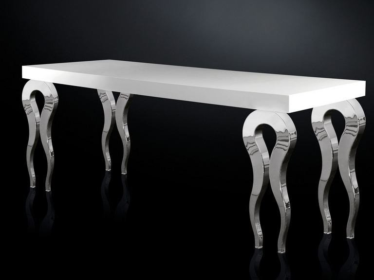 Lacquered rectangular MDF table SILHOUETTE | MDF table by VGnewtrend