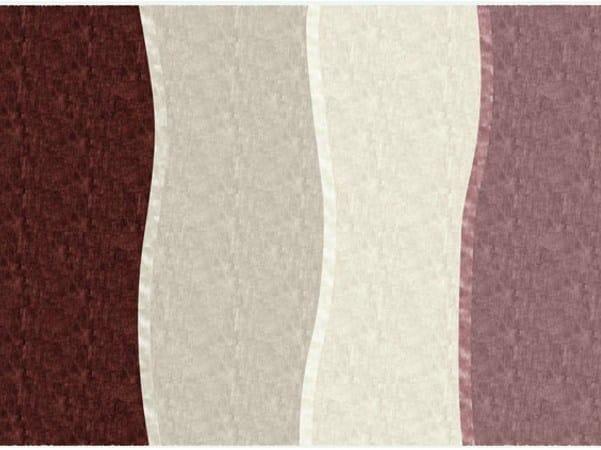 Handmade rectangular rug SILK OVERLAP by Deirdre Dyson