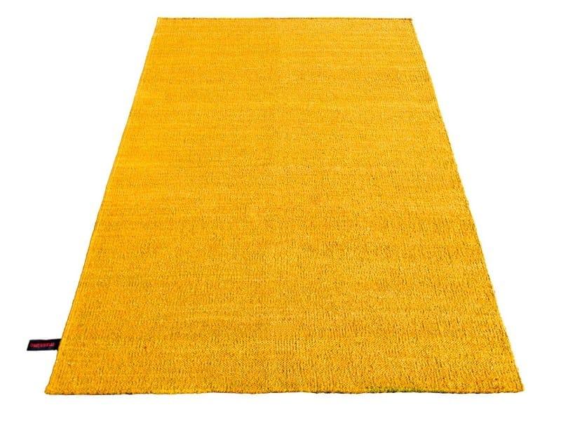 Handmade rectangular rug SILK RUG YELLOW by Massimo Copenhagen