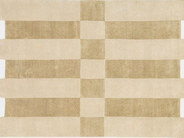 Rug with geometric shapes SILK SHIFT by Deirdre Dyson