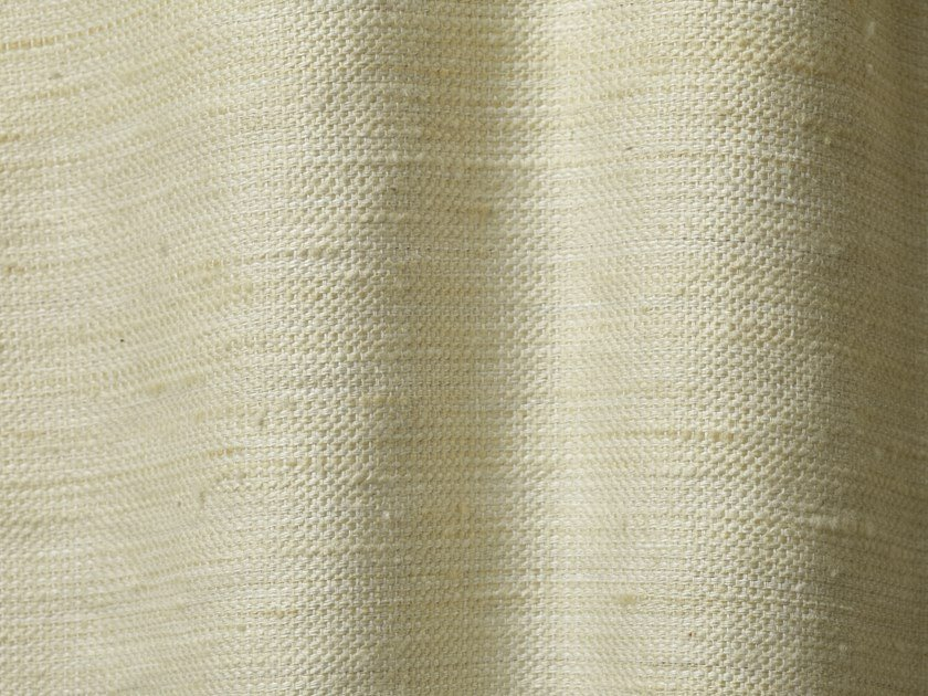 Solid-color linen fabric SILK SUGAR by Dedar