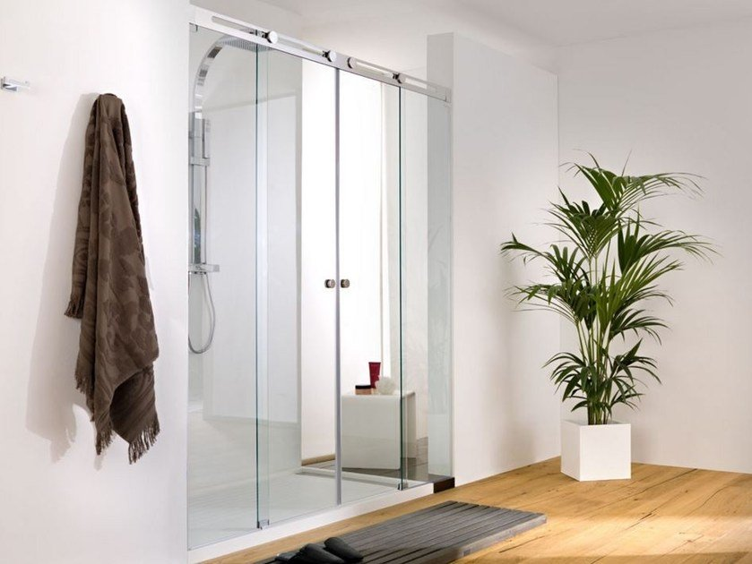 Shower cabin with sliding door SILKE 9/9 by Systempool