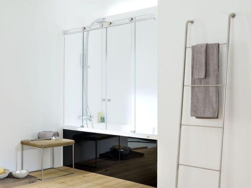 Glass bathtub wall panel SILKE 9/9B by Systempool