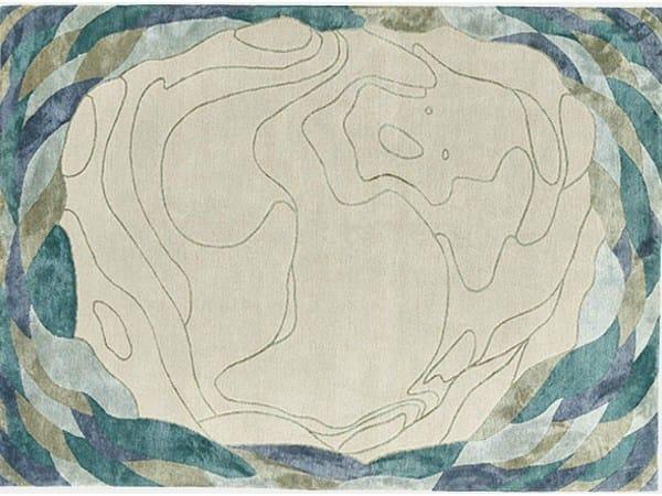 Handmade rug SILKEN SHELLAC by Deirdre Dyson