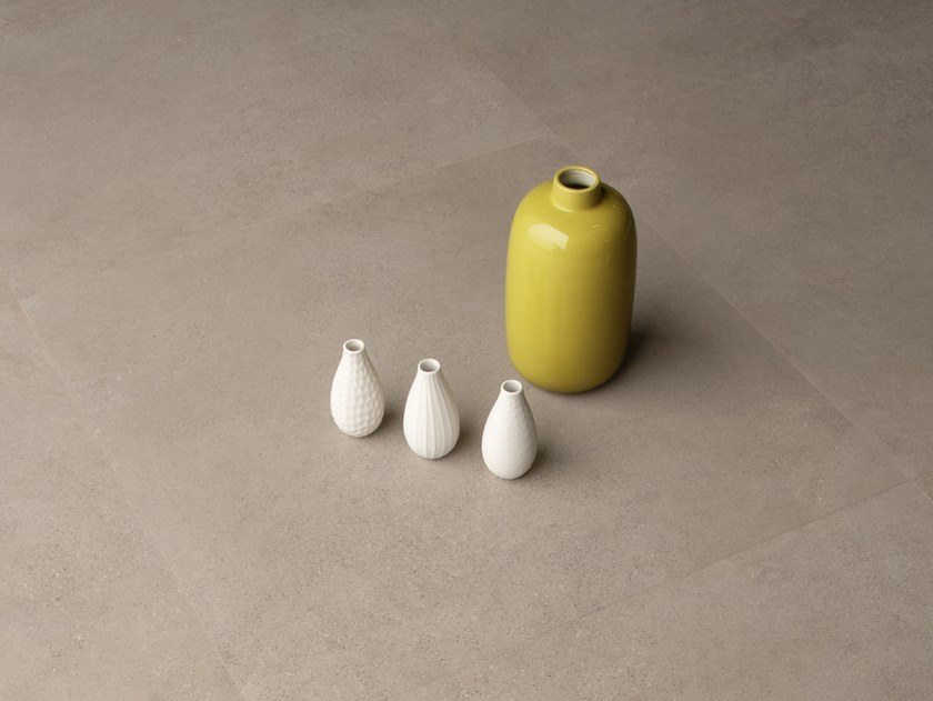 Pavimento/rivestimento in gres porcellanato effetto pietra SILKYSTONE TAUPE by CERAMICA SANT'AGOSTINO