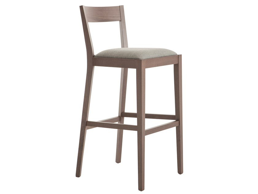 High beech stool SILLA 472A.i1 by Palma