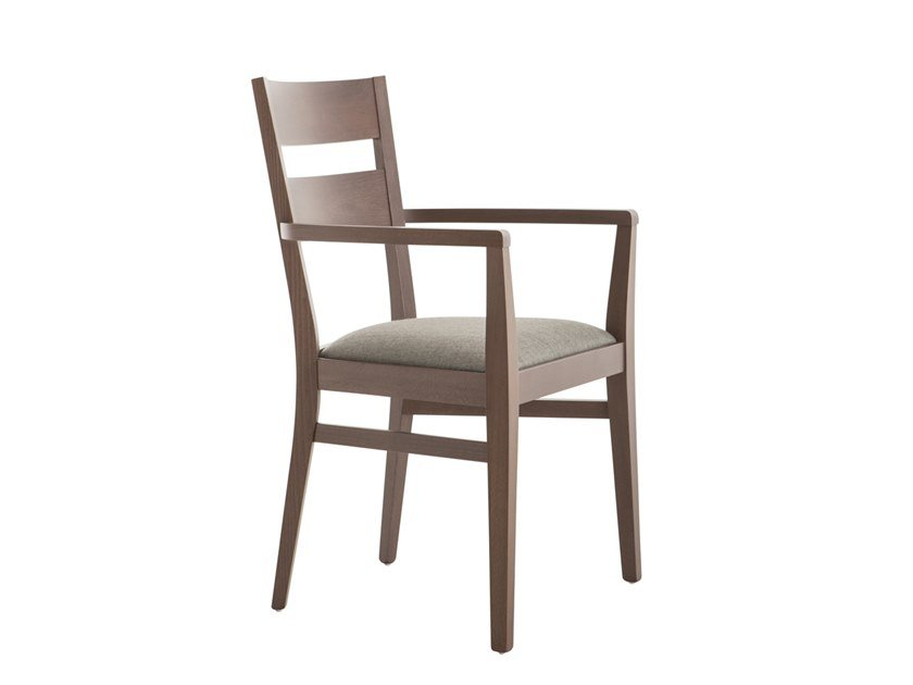 Beech chair with armrests SILLA 472AP.i1 by Palma