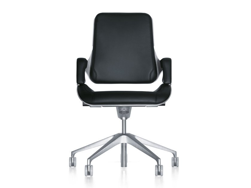 Ergonomic leather task chair with casters SILVER 262S by Interstuhl