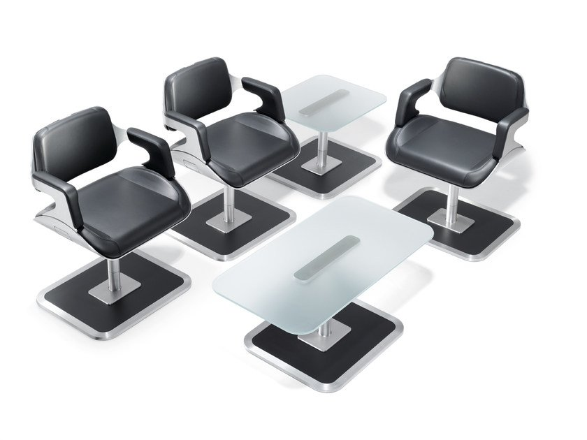 Ergonomic leather chair with armrests SILVER 810S by Interstuhl