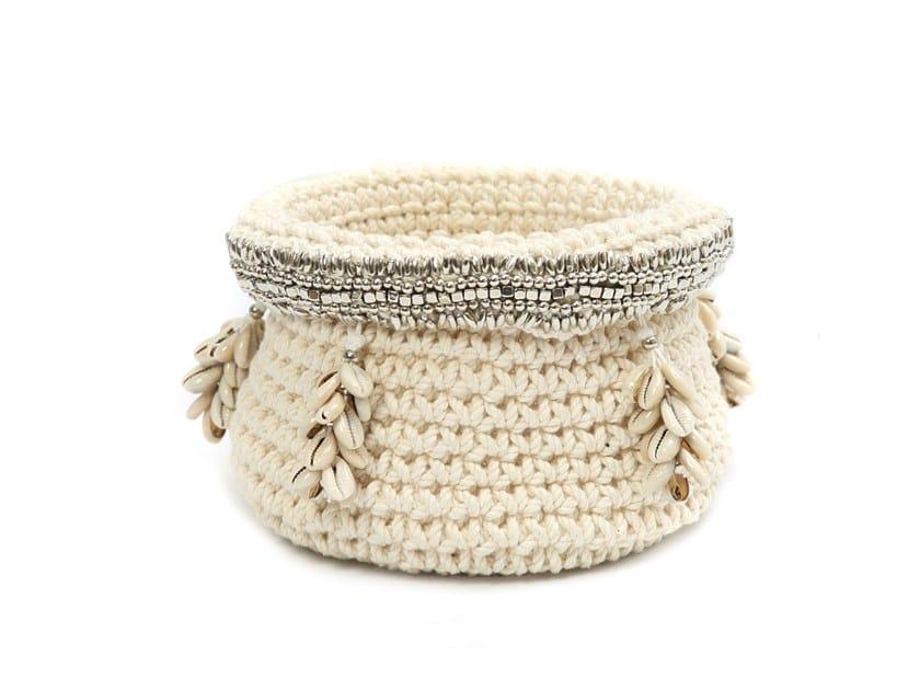Cotton basket SILVER by Bazar Bizar